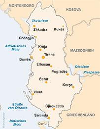 albanien-landkarte